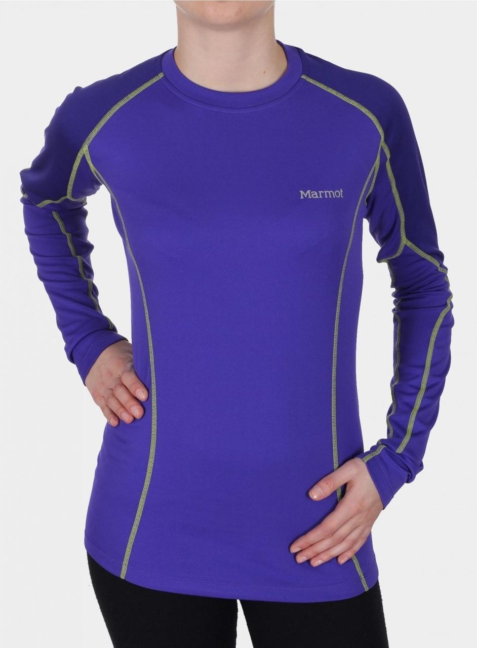 Термокофта Marmot Wm's ThermalClime Pro LS Crew electr.blue/midnight purple L