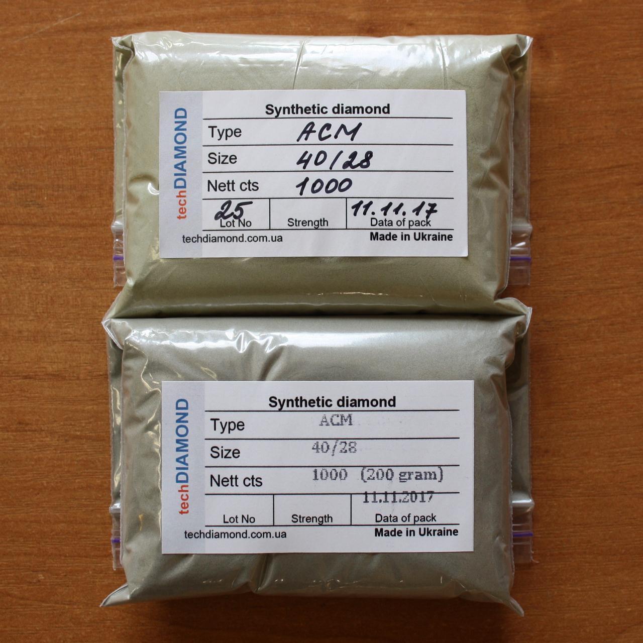 Синтетические алмазные микропорошки АСМ 40/28