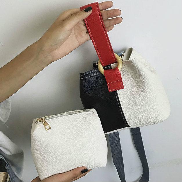 женская мин сумочка с косметичкой