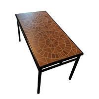 Стол садовый металлический с керамической столешницей