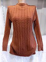 Туника женская размер универсал Турция 20703 коричневая СП