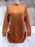Туника женская размер универсал Турция 20704 коричневая СП