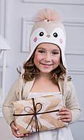 Детская шапка-ушанка для девочки Пингвин, фото 1