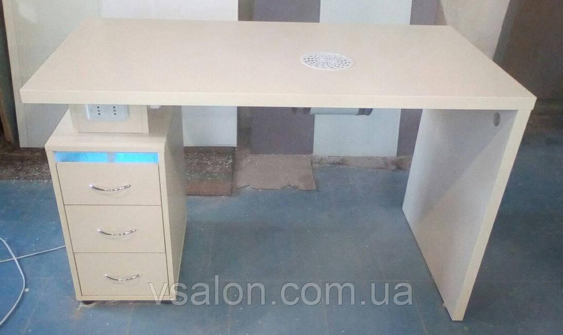 Професійний стіл для манікюру з витяжкою і УФ лампою V184