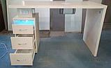 Професійний стіл для манікюру з витяжкою і УФ лампою V184, фото 2