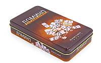 Настольная игра домино в металлической коробке, фото 1