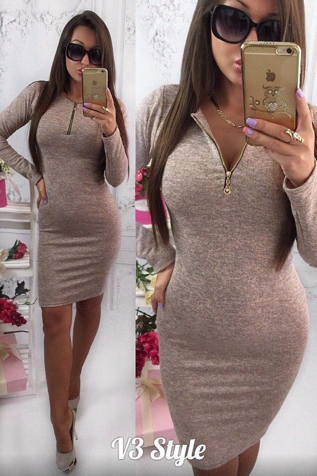 Платье из ангоры-меланжа