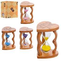 Деревянная игрушка Песочные часы MD 1112  12см,5минут,микс цветов,в коробке,9,5-9,5-12,5см