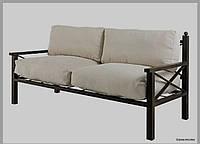 """Кованый диван """"РЕТРО"""" 180х80 см. с мягкой спинкой и с подлокотниками"""