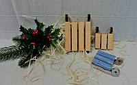 Саночки декоративные-8 мини-мини, 6х5см,фанера.