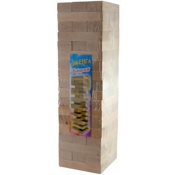 """Игра настольная """"Дженга-Гигант"""", массив дерева (60 брусков) 3,9кг (48х12,5х12,5 см)"""