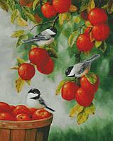 """Схема для вышивания """" Синички на яблоне """""""