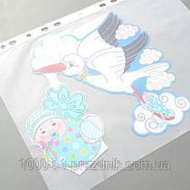 Наклейка Аист с малышом