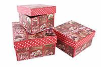 Подарочные коробки Новогодние арт1, 3 шт