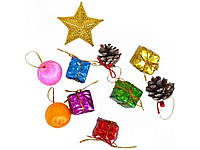 Набір новорічних підвісних прикрас 2,3см AS6155 ТМКОЛОРІТ