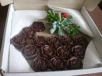 Шоколадний розарій - цукерки handmade із подарунком