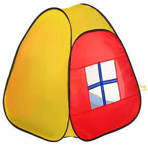 Палатка игровая пирамида, 86-77-74см в сумке, фото 2