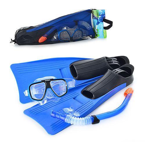 Набор для плавания детский маска трубка и ласты Intex 55957