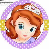 Принцесса София 40 Вафельная картинка