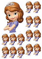 Принцесса София 41 Вафельная картинка