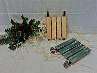 Саночки декоративные-7 маленькие,10х6,5см.,фанера.
