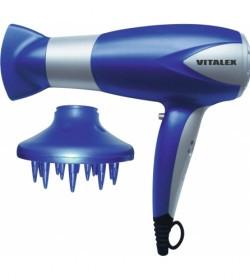 Фен электрический Vitalex 2 скорости. 3 температурных режима . цвет синий