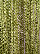 Штори нитки Об'ємні зелень-оливка, фото 3