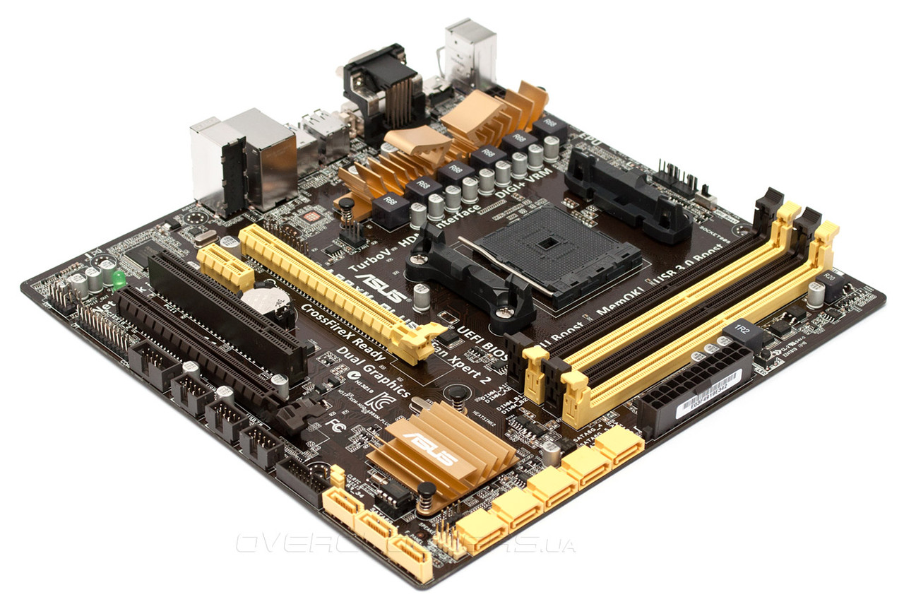 """Материнская плата Asus A88XM-PLUS Socket FM2/FM2+ A88X DDR3 """"Over-Stock"""" Б/У"""