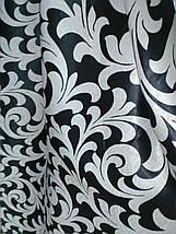 """Штора Блэкаут """"Королевские завитки"""" черный светонепроницаемые  шторы, фото 3"""
