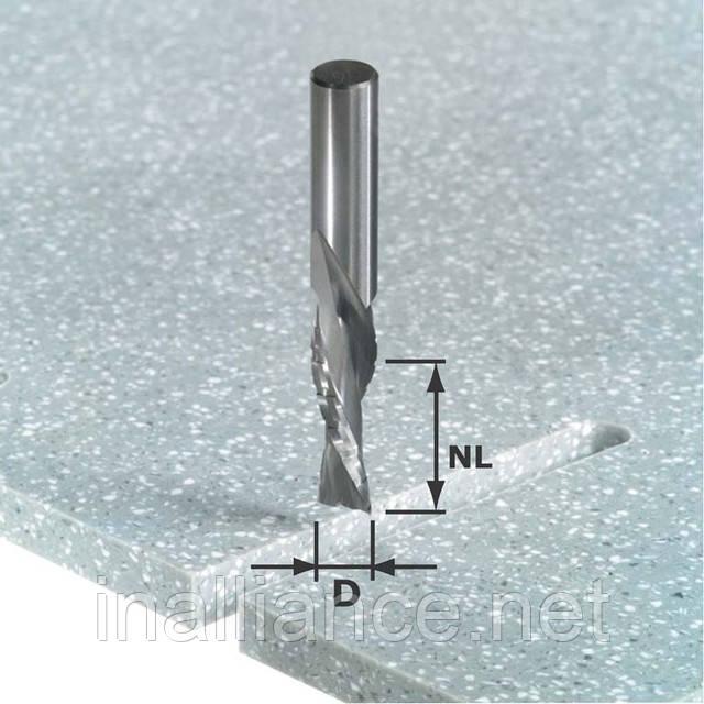 Фреза HW для черновой и чистовой обработки с хвостовиком 12 мм HW Spi D12/42 LD ss S12 Festool 492656