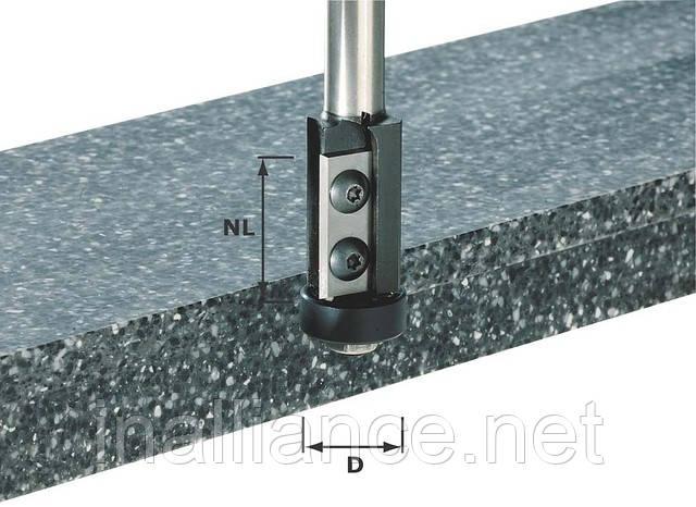 Фреза пазовая со сменными ножами HW с хвостовиком 12 мм HW S12 D21/30WM Festool 491120