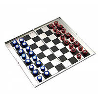 Шахматы магнитные дорожные алюминий (16х9х1 см)