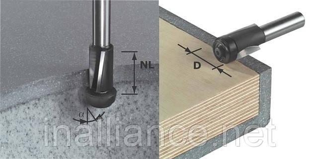 Пригоночная фреза HW с хвостовиком 12 мм HW D19/25 ss S12 Festool 492661