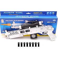 Автомат АК-98А (батар. з муз. та світ. приціл лазер, короб.) р.42*16*4 см( Ч )