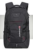 """Рюкзак чорний в швейцарському стилі великий 17"""" Swrgtaiti з кодовим замком, фото 2"""