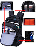 Рюкзак черный в швейцарском стиле Swrgtaiti с код. замком, фото 5