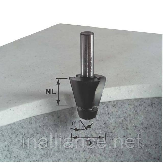 Фреза для профилирования фасок HW с хвостовиком 12 мм HW D33,54/15° ss S12 Festool 492665