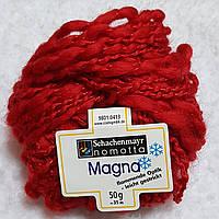 Пряжа для вязания шерсть акрил красного цвета