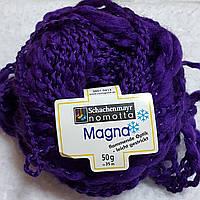 Пряжа для вязания шерсть акрил темнофиолетового цвета