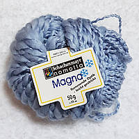 Пряжа для вязания шерсть акрил голубого цвета