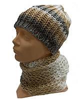 Женский комплект шапка+шарф хомут