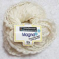 Пряжа для вязания шерсть акрил молочного цвета