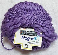 Пряжа для вязания шерсть акрил сиреневого цвета