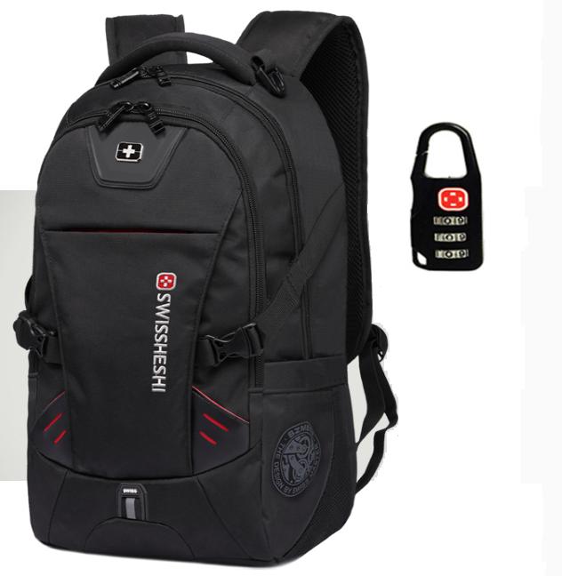 Рюкзак черный в швейцарском стиле Swrgtaiti с код. замком