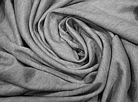 Ткань Французский трикотаж Светло Серый Меланж