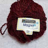 Пряжа для вязания шерсть акрил бордового цвета