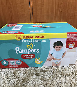 Трусики Pampers Pants 6 Extra Large 88 шт. (15+ кг.)  Universal (Unisex)