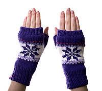Варежки-рукавички без пальцев (митенки) Purple