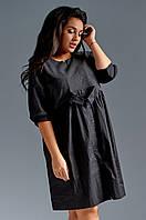 Свободного кроя платье со съемным воротником