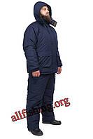 Зимний костюм на рыбалку -40 ТАСЛАН на мембране однотонный (Синий), фото 1